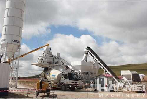 Mobile Mini Concrete Batching Plant